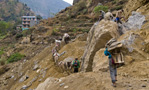 Bagarchhap - Jagat, road construction - by Henk