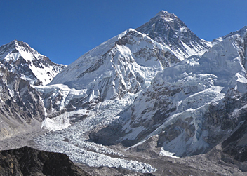 Khumbu Icefall and Everest - by Martijn