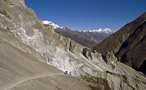 Landslide area on the way to Manang - by Gianni PK